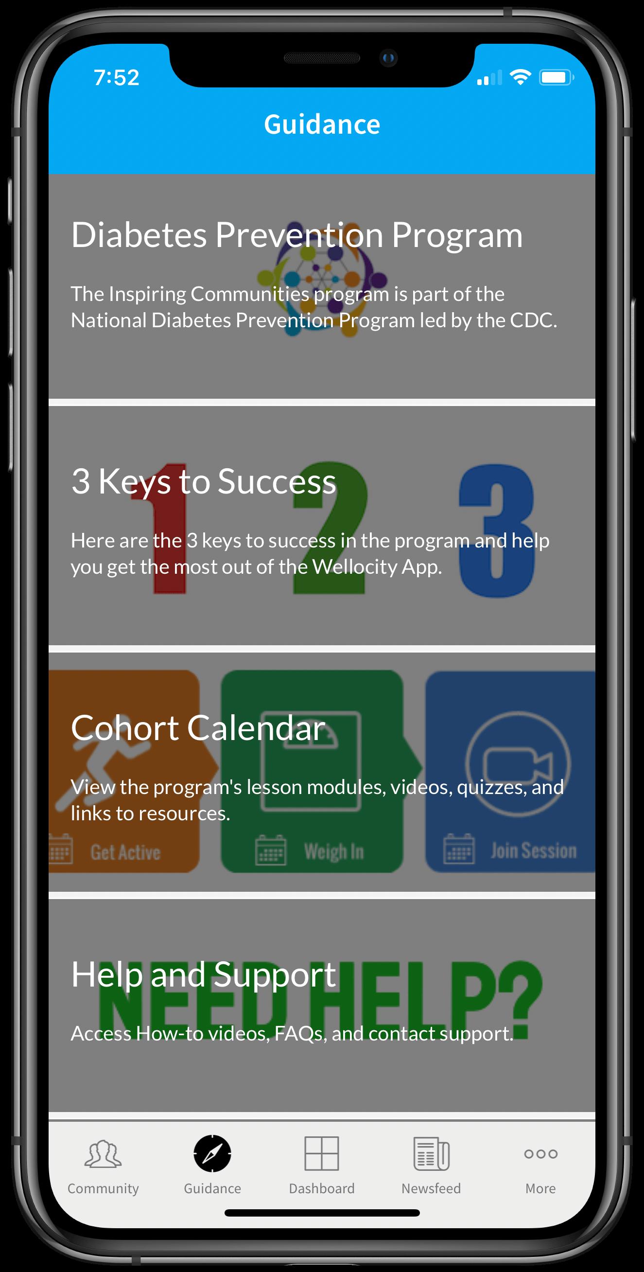 Inspiring Communities English Guidance framed iPhone XS